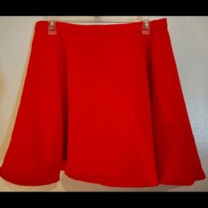Red circle skirt with unique texture!